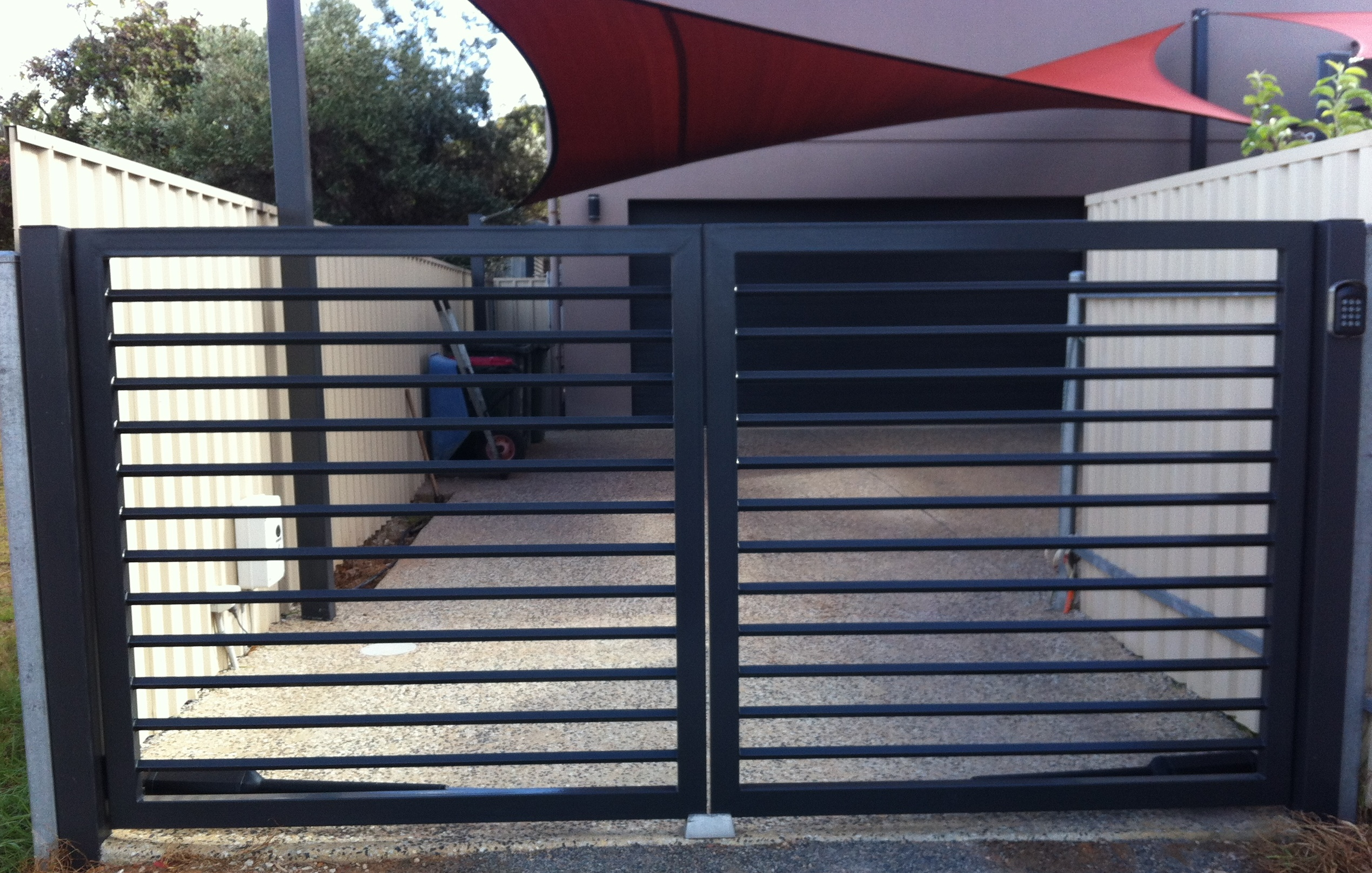 Steel gates adelaide sunlander outdoor products 600x450 jpeg - Steel Gates Jpg 2539x1615 Steel Pipe Gate Drawings